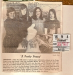 1974 WJHS Penny Drive.  L-R: Bruce Edwards, Donna Nichols, Jill Jones, Lynn Perry.
