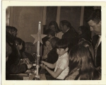 1972 5th Grade Science Fair. D.Montgomery with electromagnetic crane built with partner Paul Trapp. The star on it says