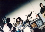 1978, Equinox first gig ever, March 17, 1978 (Note Gilly's hat). L-R: T.Gillis, D.Montgomery, S.Matthews.  (Photo by Ti